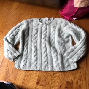 L. L. Bean 100% Cashmere Chunky Cable knit sweater